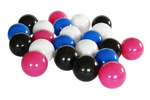 Piłeczki dla dzieci o średnicy 7 cm - kolor różowy,biały,czarny,niebieski