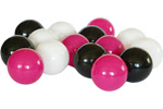 Kolorowe piłeczki do suchego basenu-białe,czarne,różowe
