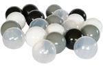 Piłeczki do baseniku dziecięcego - białe,czarne,szare,przeźroczyste