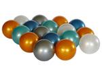 Piłeczki w kolorach metalicznych-niebieski,turkus,złoty,srebrny,biała perła