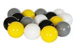 Piłeczki do basenów ogrodowych - białe, szare, czarne,żółte
